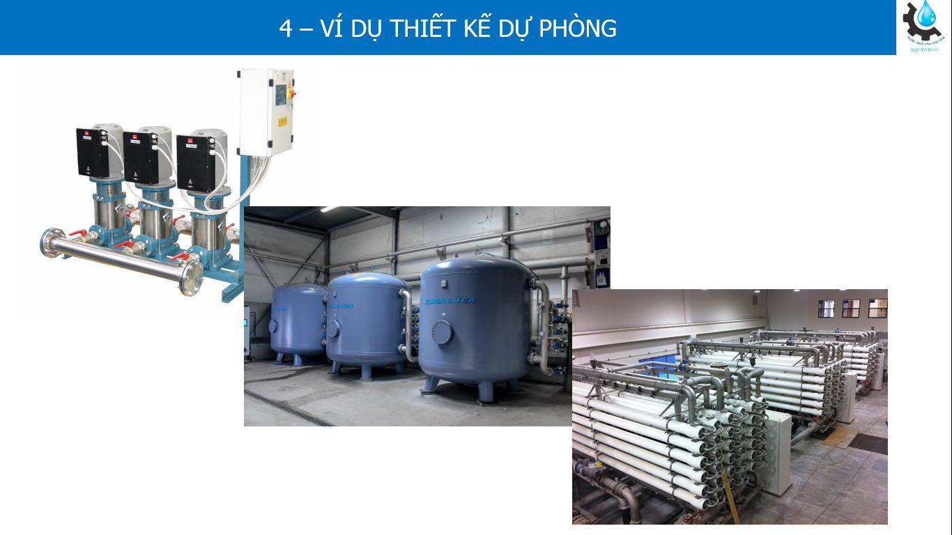 Thiết kế hệ thống xử lý nước có dự phòng N+1